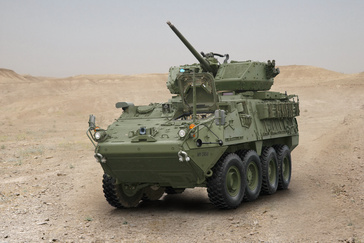 Orbital ATK´s XM813 Bushmaster Chain Gun integrated with KONGSBERG MCT-30 remote turret on the U.S. Army#s Stryker M1296 Infantry Carrier Vehicle will provide Stryker crews with greater firepower and survivability.
